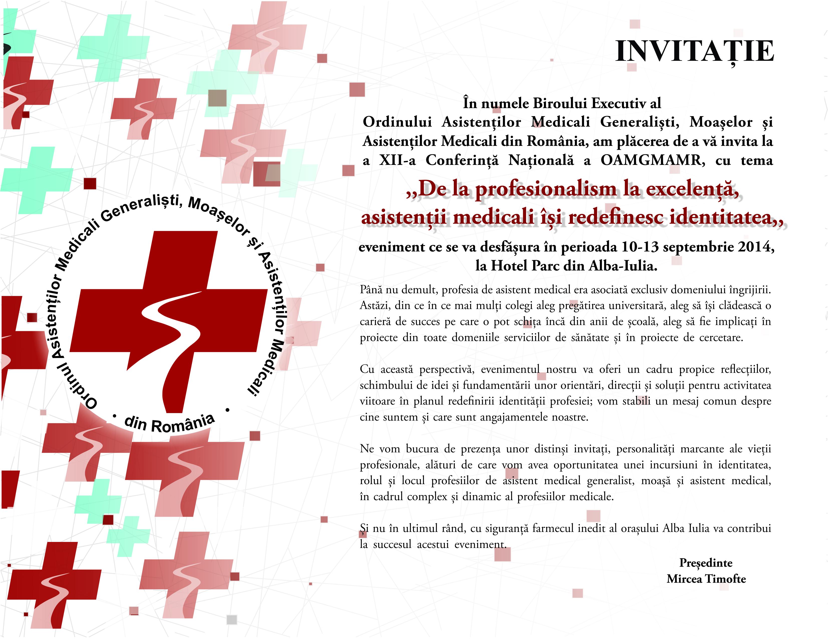 Invitatie Conferinta